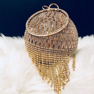 aaeb81d506f4 Crystal Rhinestone Trendy Clutch Purse Round Bag